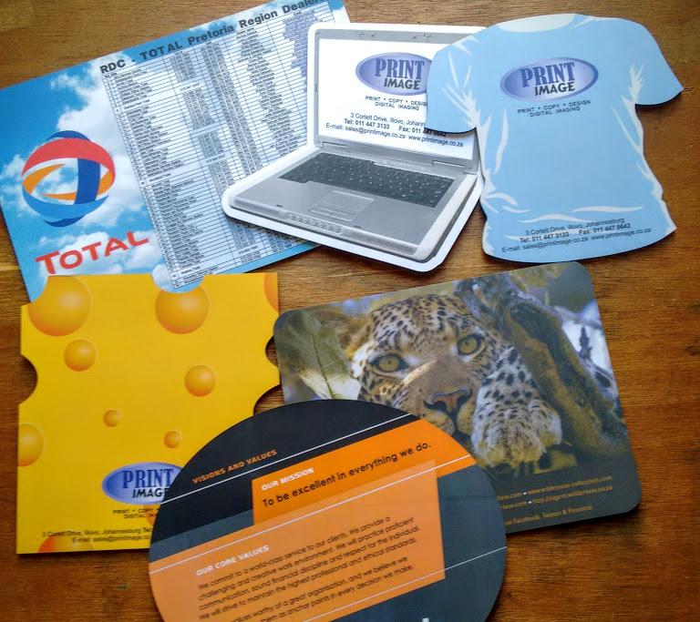 Sample of Print Image's mousepads